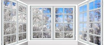 Vista da janela no Foto de Stock