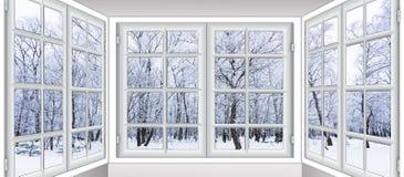 Vista da janela no Imagens de Stock