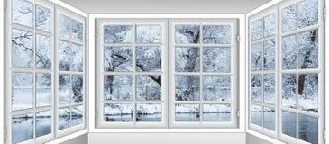 Vista da janela no Fotos de Stock Royalty Free