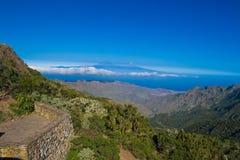 Vista da La Gomera Immagini Stock