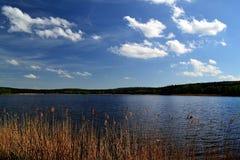 vista da lagoa da represa foto de stock royalty free