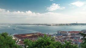 Vista da Lisboa histórica Baixa do centro e vídeos de arquivo