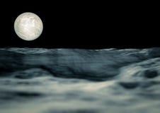 Vista da lua Fotografia de Stock Royalty Free