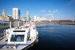 Vista da mais baixa cidade de Minato-Mirai em Yokohama, Japão. imagem de stock royalty free