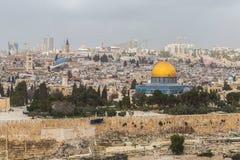 Vista da mesquita do al-Aqsa (aka al-Muqaddas de Bayt), Jerusalém (Israel) Fotos de Stock