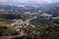 Vista da Mijas nelle montagne sopra Costa del Sol in Spagna Immagini Stock Libere da Diritti