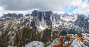 Vista da montagem de Volusnica, Montenegro fotografia de stock