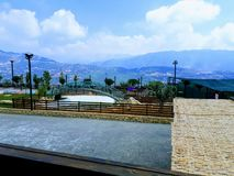 Vista da montagem Líbano fotos de stock