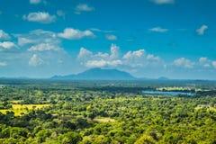 Vista da montagem Sigiriya Sri Lanka Imagem de Stock Royalty Free