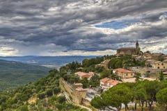 Vista da Montalcino Fotografia Stock Libera da Diritti