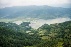 Vista da montanha alta fotografia de stock royalty free