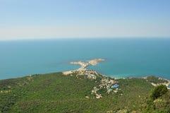 Vista da montanha ao cabo Fotografia de Stock Royalty Free