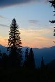 Vista da montanha ao oeste, a Abkhásia de Pshegishvah, Cáucaso Fotos de Stock Royalty Free