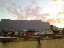 Vista da montanha da tabela Foto de Stock Royalty Free