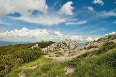 Vista da montanha de Choc fotografia de stock royalty free