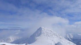 Vista da montanha de Chopok, o pico o mais alto de baixo Tatras, Jasna, Eslováquia imagens de stock royalty free