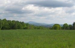 Vista da montanha de Groundhog - Ridge Parkway azul, Virgínia, EUA Fotografia de Stock Royalty Free