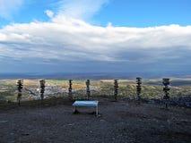 Vista da montanha de Mashuk em Pyatigorsk, Rússia fotografia de stock