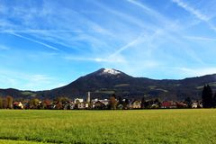 Vista da montanha de Salzburg e de Geisberg Foto de Stock