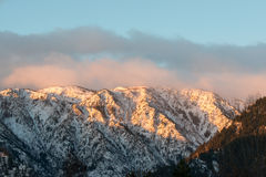 Vista da montanha na manhã, Washington da Tum-água Imagens de Stock