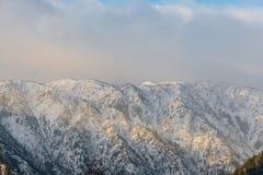 Vista da montanha na manhã, Washington da Tum-água Imagem de Stock