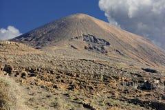 Montanha Temeje na ilha de Lanzarote, Ilhas Canárias, Spain foto de stock