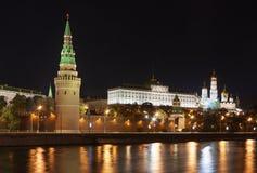 Vista da Moscovo Kremlin, Rússia Imagem de Stock