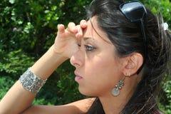 Vista da mulher de Businnes foto de stock royalty free