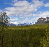 Vista da Nikkaloukta fotografia stock