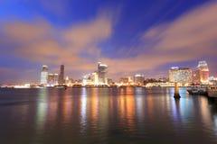 Vista da noite da cidade de Xiamen Fotos de Stock