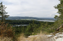 Vista da Oernskoldsvik Svezia Fotografia Stock Libera da Diritti