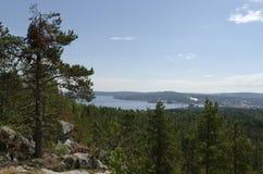 Vista da Oernskoldsvik Svezia Immagini Stock