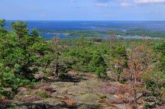 Vista da Orrdalsklint, Aland, Finlandia Fotografia Stock
