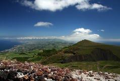 Vista da parte dell'isola di Miguel del sao, Azzorre Fotografie Stock Libere da Diritti