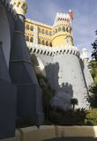 Vista da parte inferior do palácio nacional de Pena em Sintra Imagens de Stock
