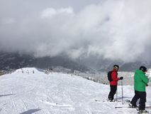 Vista da parte superior da montanha Fotos de Stock Royalty Free