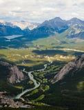 Vista da parte superior da montanha do enxôfre, Banff Fotografia de Stock
