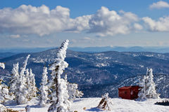 Vista da parte superior da montanha Zelenaya Fotografia de Stock Royalty Free