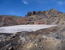 Vista da parte superior da serra cume do nevado no pimentão Imagem de Stock