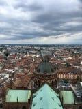 A vista da parte superior de Notre-Dame de Strasbourg Fotografia de Stock Royalty Free