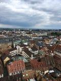 A vista da parte superior de Notre-Dame de Strasbourg Fotos de Stock Royalty Free