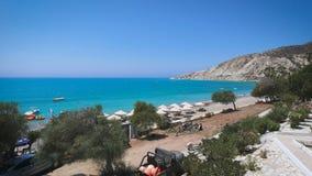 Vista da parte superior de um monte, Chipre video estoque