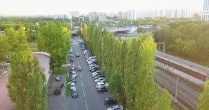 Vista da parte superior de uma cidade bonita video estoque