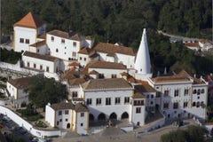 Vista da parte superior do monte do palácio do nacional de Sintra Fotografia de Stock Royalty Free
