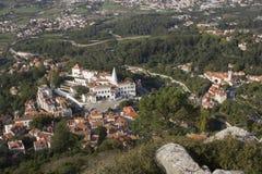 Vista da parte superior do monte do palácio do nacional de Sintra Foto de Stock Royalty Free
