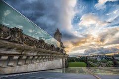Vista da parte superior do Reichstag alemão, o parlamento Imagens de Stock
