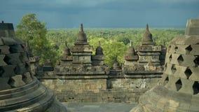 Vista da parte superior do templo de Borobudur filme