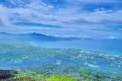 Vista da parte superior do vulcão do Vesúvio foto de stock