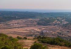 Vista da parte superior da montagem de Toro no sul da ilha de Menorca Imagens de Stock