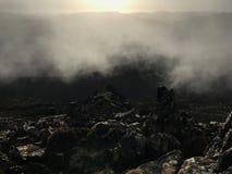 Vista da parte superior da névoa de Tasmânia do pico do hartz da montanha Imagens de Stock